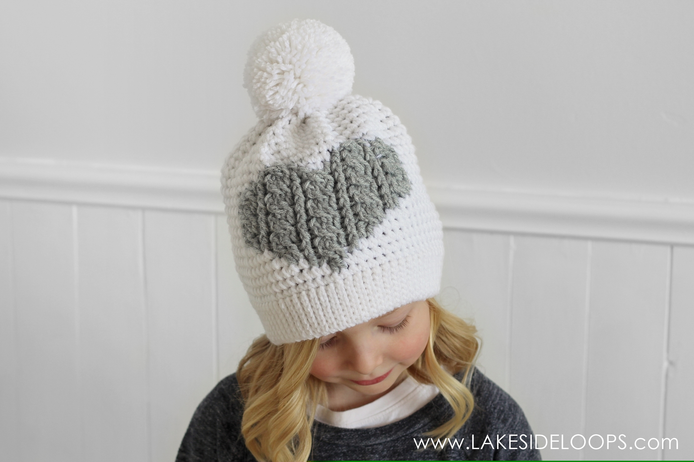 f02ab1ed0a0 Henley Crochet Cable Heart Hat – FREE pattern – Lakeside Loops