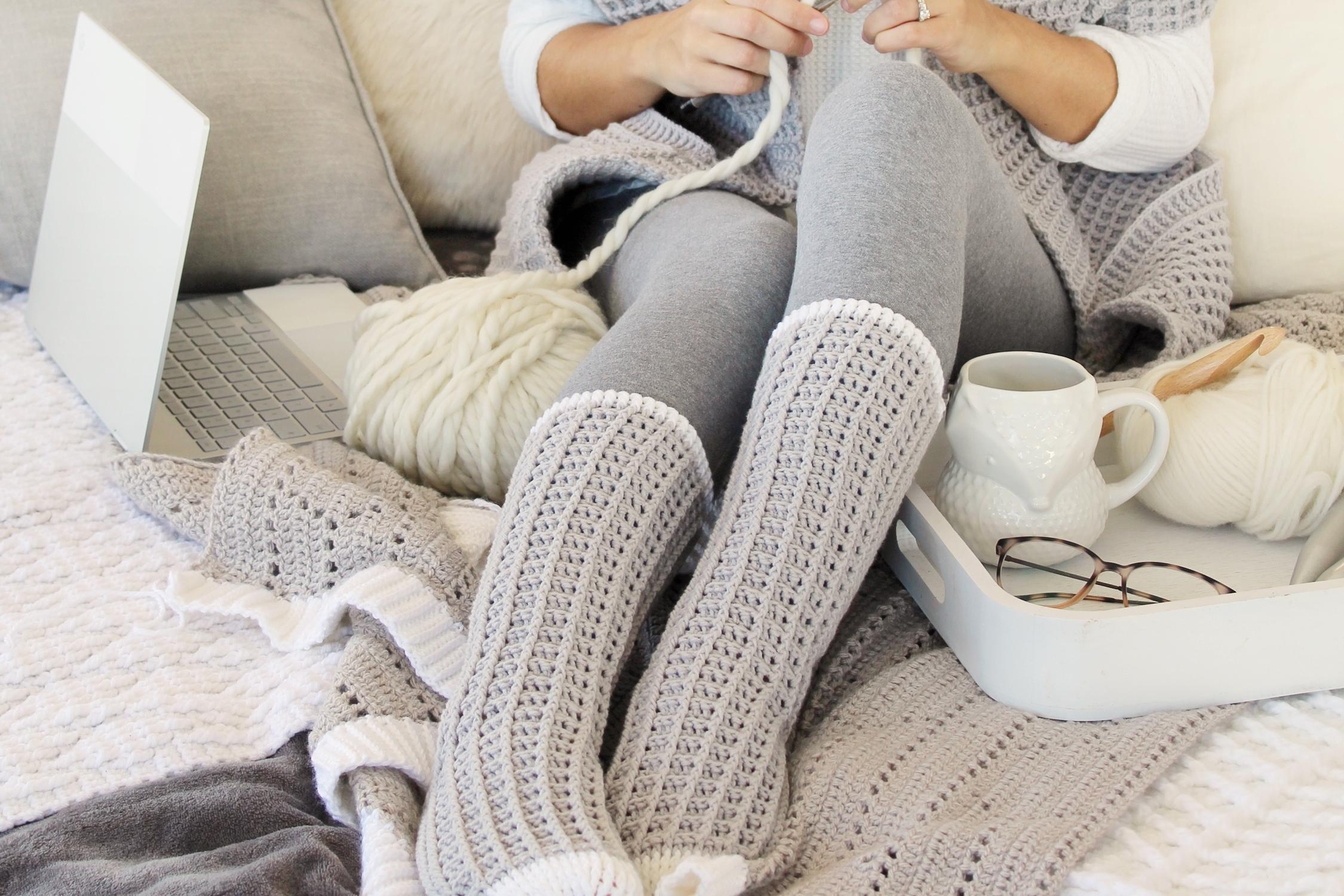 Watson Waffle Crochet Socks Free Pattern Lakeside Loops