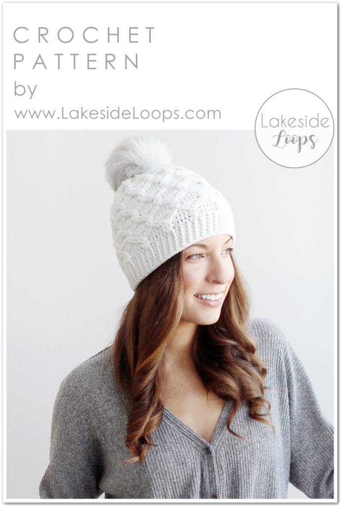 hygge hat soft hat set crochet cabled hat crocheted cable hat and cowl set Blue hat and cowl crochet hat scarf