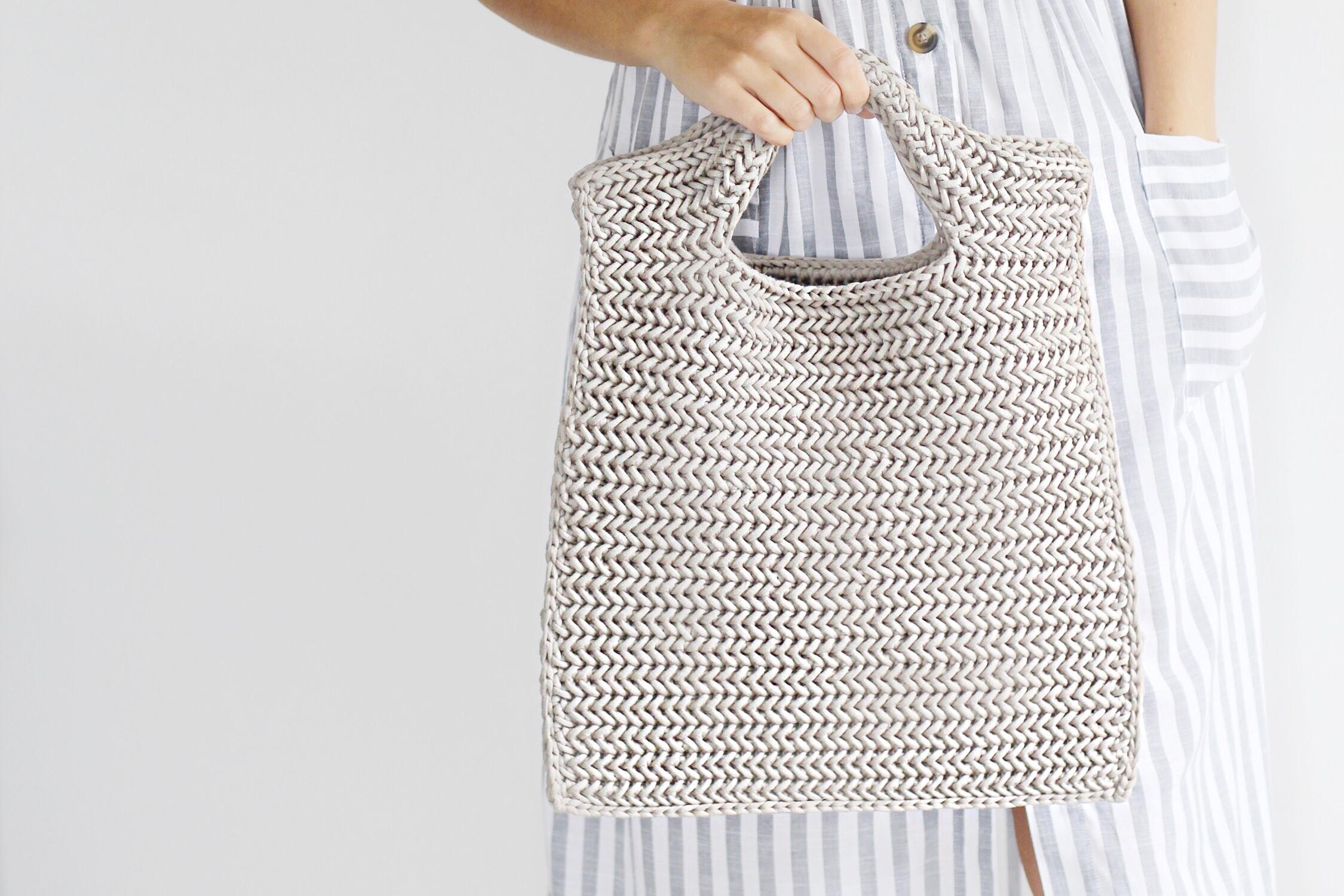 Neo Herringbone Crochet Bag Free Pattern Lakeside Loops